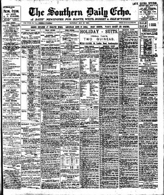 cover page of Southern Echo published on July 20, 1907