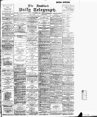 cover page of Bradford Daily Telegraph published on November 25, 1898