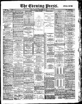cover page of Yorkshire Evening Press published on September 19, 1891