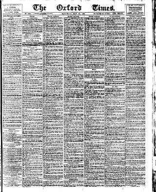 cover page of Oxford Times published on May 24, 1902
