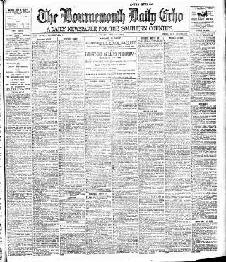 cover page of Bournemouth Daily Echo published on May 17, 1901