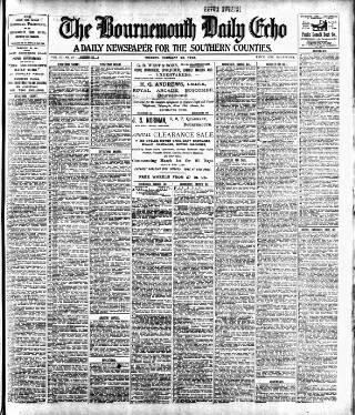 cover page of Bournemouth Daily Echo published on February 25, 1902