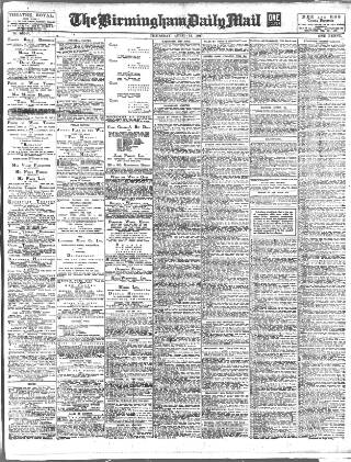 cover page of Birmingham Mail published on April 19, 1917