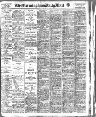 cover page of Birmingham Mail published on October 23, 1917