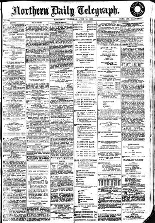 cover page of Northern Daily Telegraph published on June 24, 1909