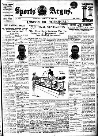 cover page of Sports Argus published on April 19, 1930