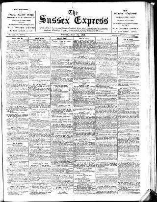 cover page of Sussex Agricultural Express published on May 17, 1912