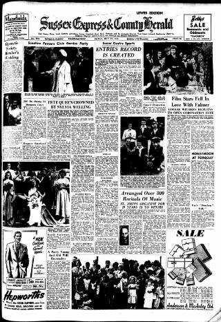 cover page of Sussex Agricultural Express published on July 17, 1953