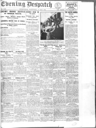 cover page of Evening Despatch published on May 15, 1918