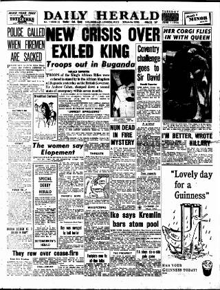 cover page of Daily Herald published on June 1, 1954