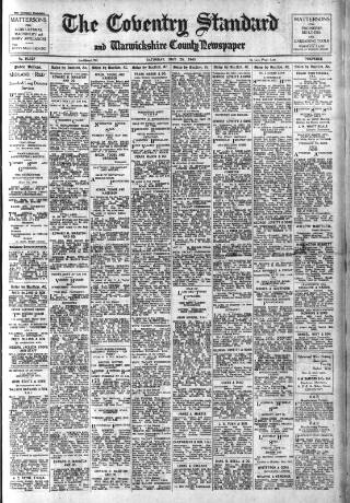 cover page of Coventry Standard published on May 26, 1945