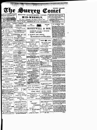 cover page of Surrey Comet published on October 19, 1904