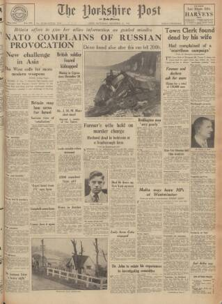 cover page of Yorkshire Post and Leeds Intelligencer published on December 17, 1955