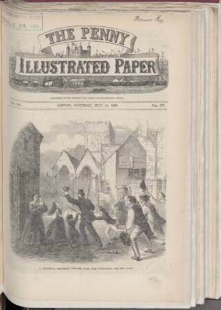 cover page of Penny Illustrated Paper published on July 25, 1868