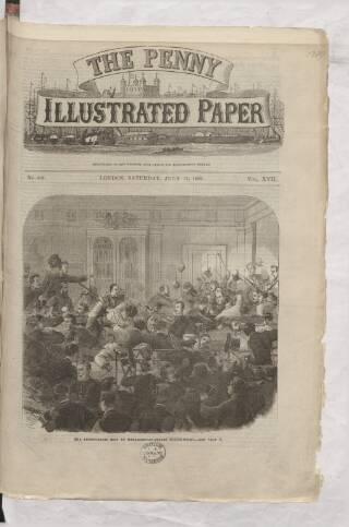 cover page of Penny Illustrated Paper published on July 17, 1869