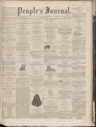 cover page of Dundee People's Journal published on May 26, 1860