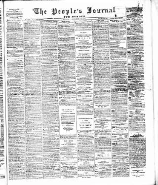 cover page of Dundee People's Journal published on December 16, 1882