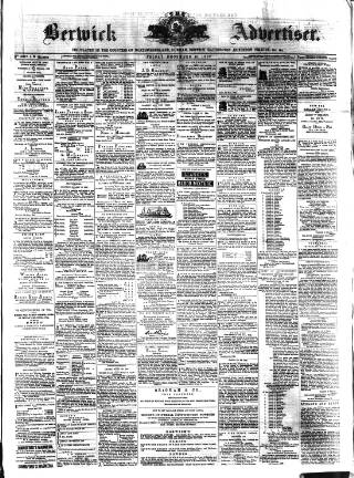 cover page of The Berwick Advertiser published on December 15, 1882