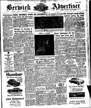 cover page of The Berwick Advertiser published on December 13, 1956