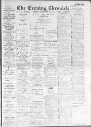 cover page of Newcastle Evening Chronicle published on September 20, 1918
