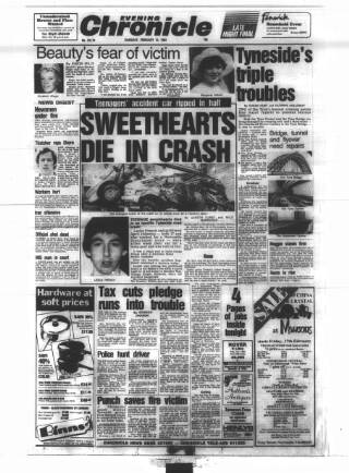 cover page of Newcastle Evening Chronicle published on February 16, 1984
