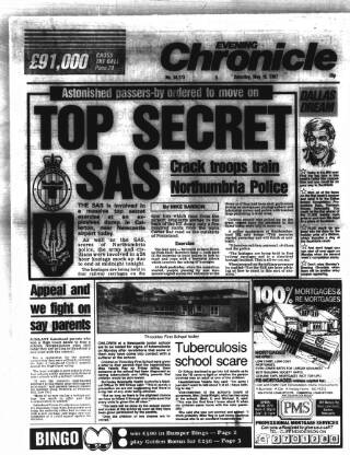 cover page of Newcastle Evening Chronicle published on May 16, 1987