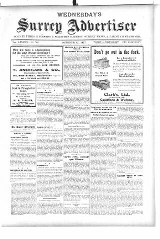 cover page of Surrey Advertiser published on October 17, 1917