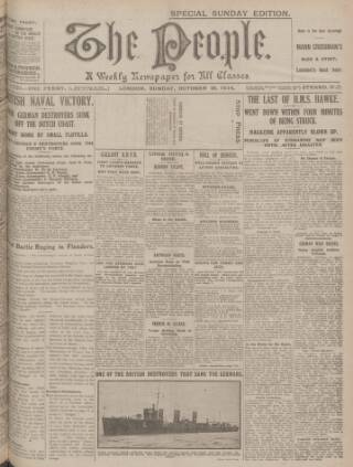 cover page of The People published on October 18, 1914