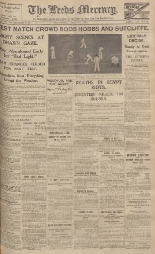 cover page of Leeds Mercury published on July 16, 1930