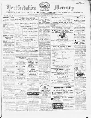cover page of Hertford Mercury and Reformer published on February 19, 1876