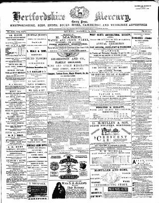 cover page of Hertford Mercury and Reformer published on December 11, 1880