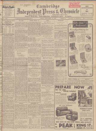 cover page of Cambridge Independent Press published on December 15, 1939