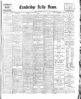 cover page of Cambridge Daily News published on May 18, 1900