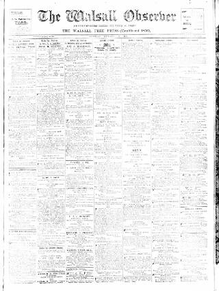 cover page of Walsall Observer, and South Staffordshire Chronicle published on December 11, 1915