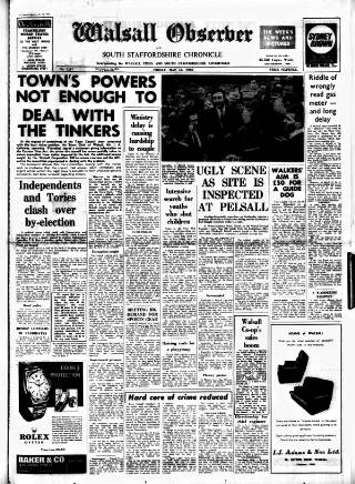 cover page of Walsall Observer, and South Staffordshire Chronicle published on May 16, 1969