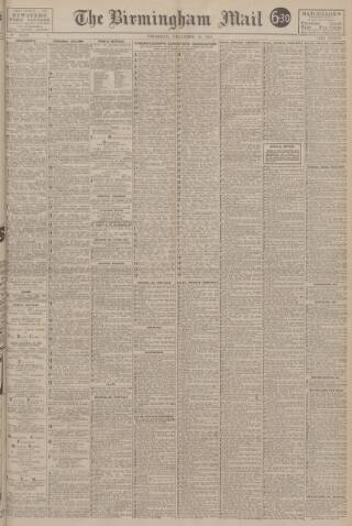 cover page of Birmingham Mail published on December 16, 1943