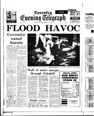cover page of Coventry Evening Telegraph published on December 16, 1978