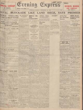 cover page of Liverpool Evening Express published on September 26, 1939