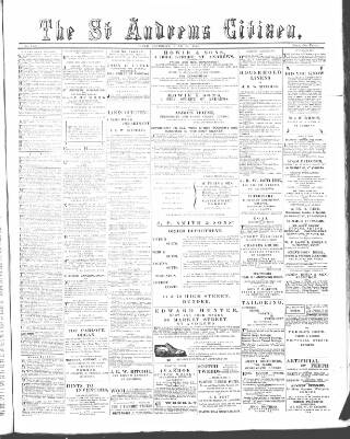 cover page of St. Andrews Citizen published on June 18, 1898