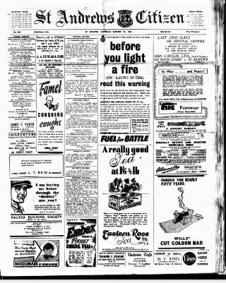 cover page of St. Andrews Citizen published on January 22, 1944