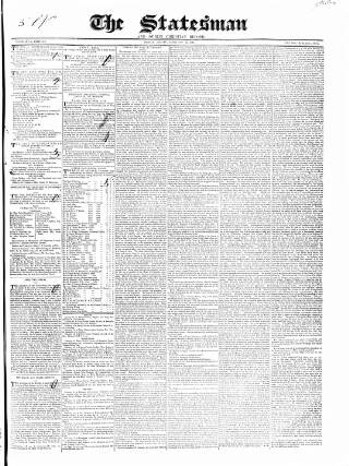 cover page of Statesman and Dublin Christian Record published on February 19, 1841