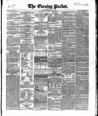 cover page of Dublin Evening Packet and Correspondent published on May 22, 1849