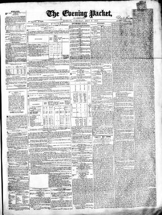 cover page of Dublin Evening Packet and Correspondent published on May 9, 1854