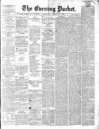 cover page of Dublin Evening Packet and Correspondent published on April 19, 1860
