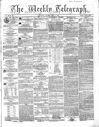 cover page of Catholic Telegraph published on June 24, 1854