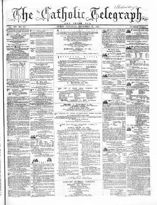 cover page of Catholic Telegraph published on September 19, 1863