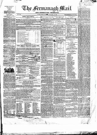 cover page of Enniskillen Chronicle and Erne Packet published on December 13, 1849