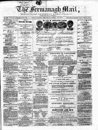 cover page of Enniskillen Chronicle and Erne Packet published on April 19, 1877