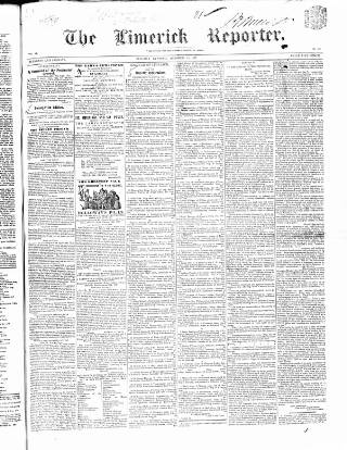 cover page of Limerick Reporter published on October 19, 1847
