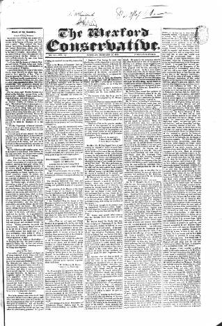 cover page of Wexford Conservative published on February 16, 1833